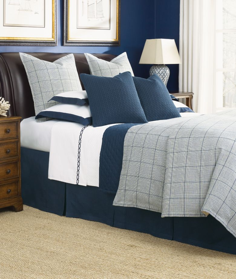Best Legacy Home Bedding Cotswold Navy Navy Bedding 640 x 480