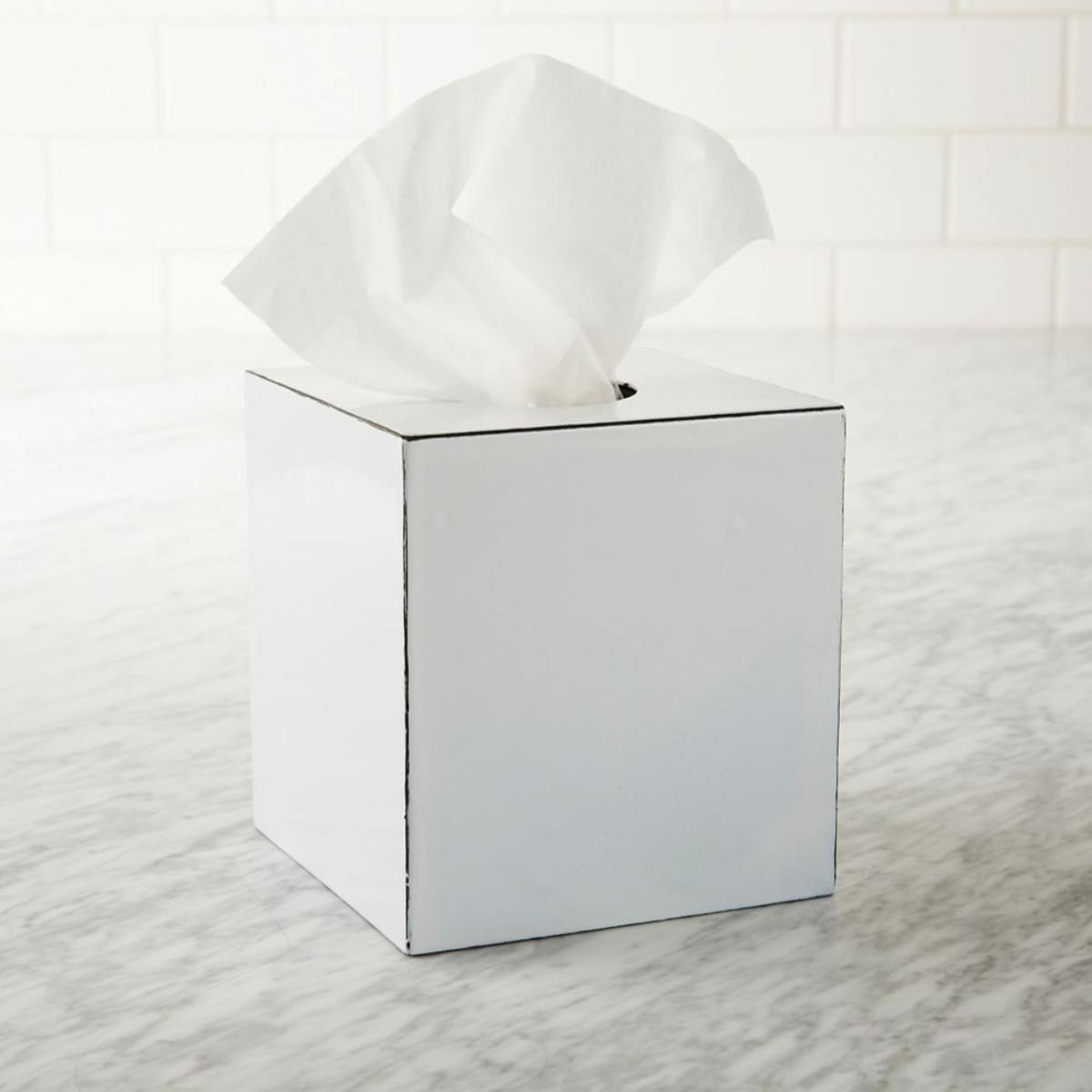 Bathroom Accessories West Elm enamel tissue box | west elm | wet dreams | pinterest | bath