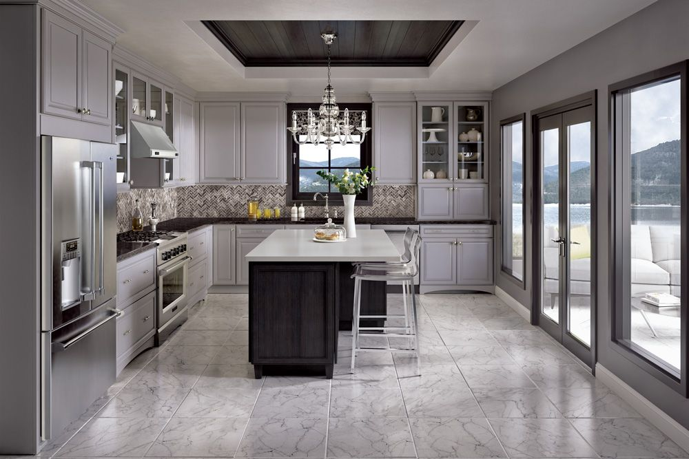 Best Merillat's New Shale Grey Painted Cabinets Are A Mainstay 400 x 300