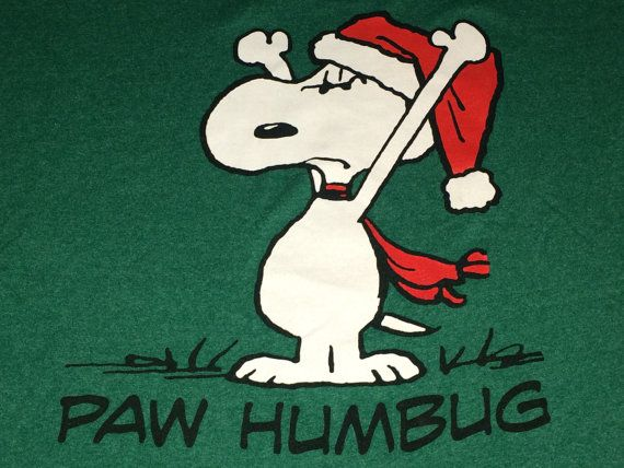 Sale Vintage Peanuts SNOOPY Green T-shirt Paw Humbug by casualisme