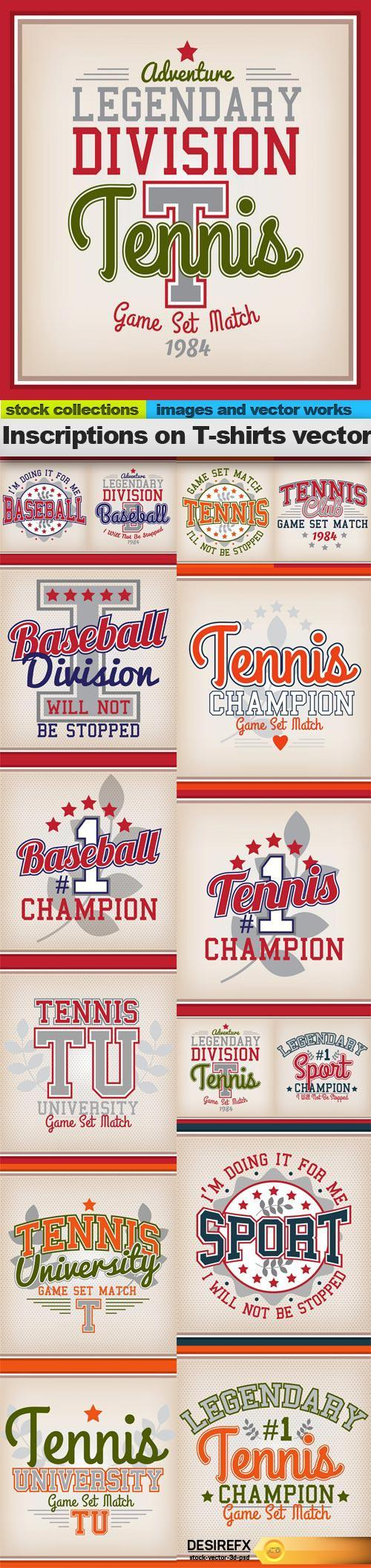 Shirt design eps - Inscriptions On T Shirts Vector 15 X Eps Http Www