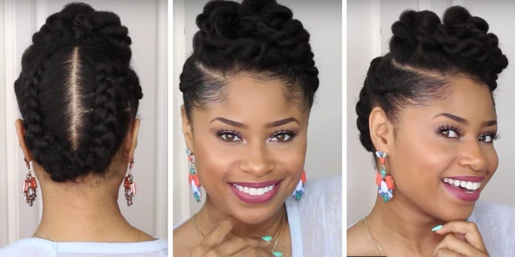 10 Natural Hair Updos For Prom Wedding And Any Special Occasion Natural Hair Styles Prom Hair Updo Natural Hair Updo