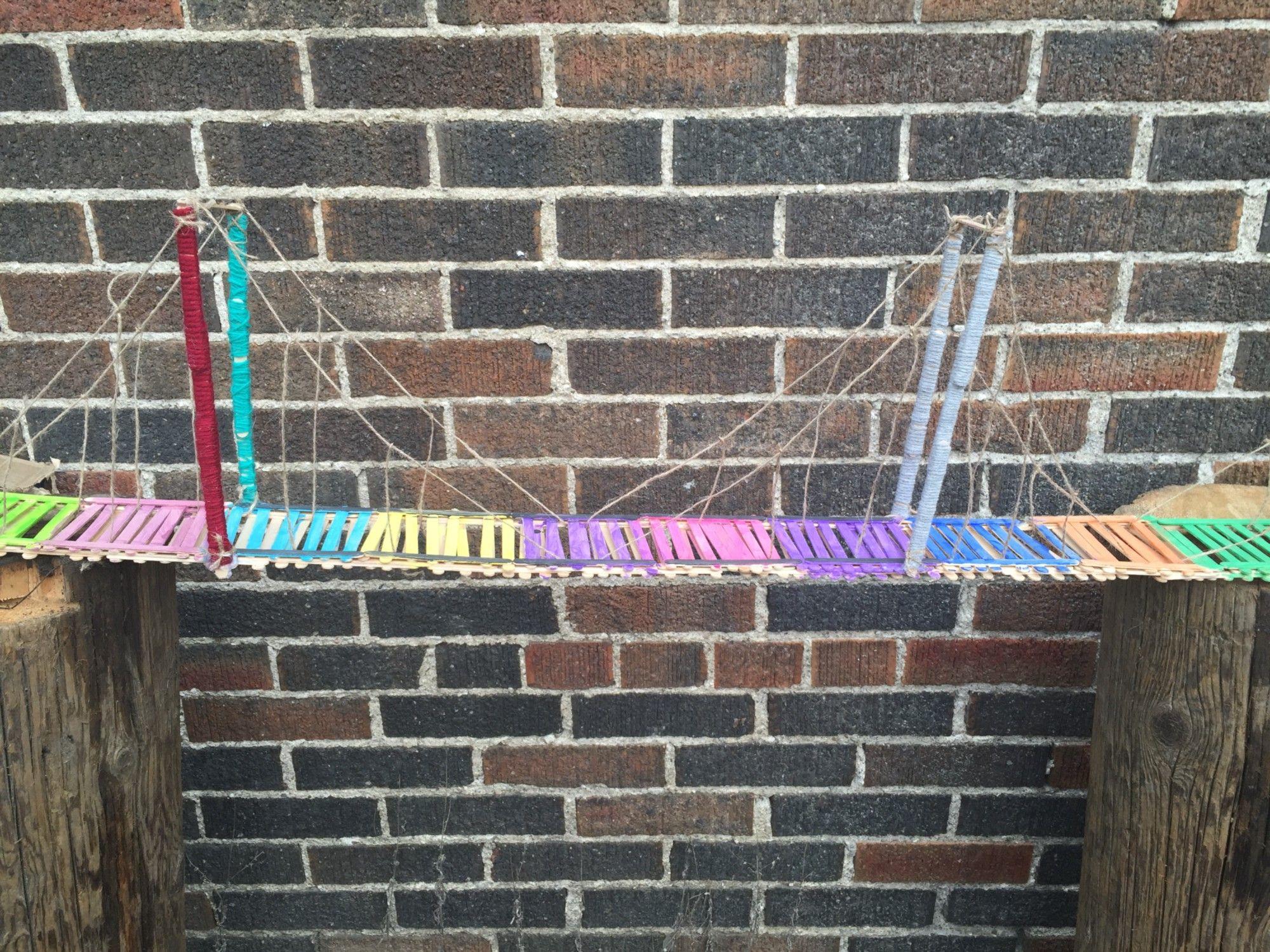 Image result for popsicle stick suspension bridge designs