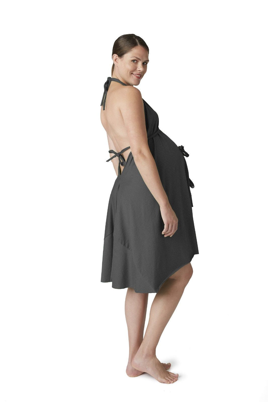 Pretty Pusher Labor and Delivery gown in charcoal! | Amory Claire ...
