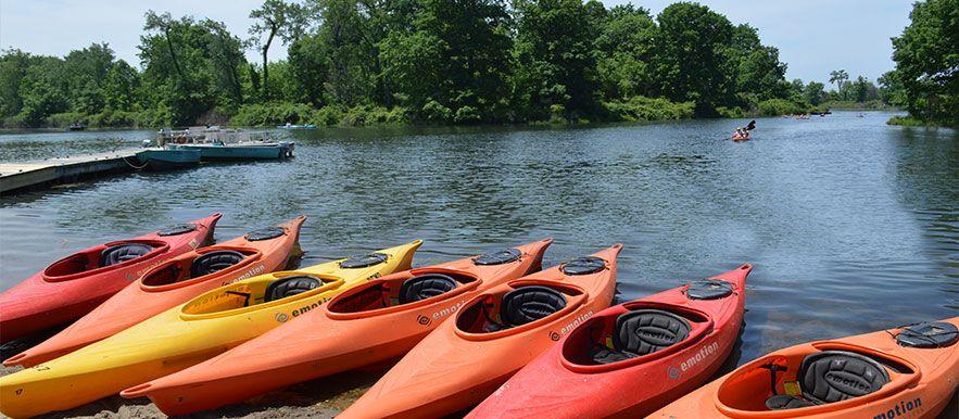 Kayak the calm inland waterways lagoons at presque isle