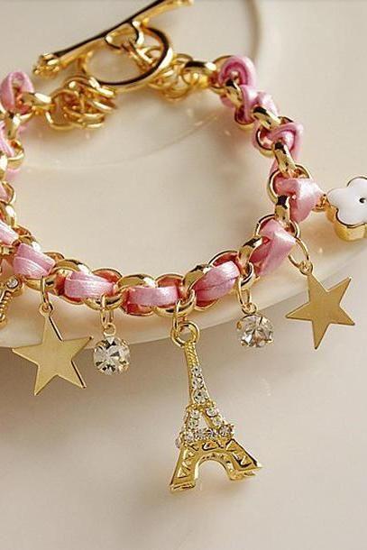 Eiffel Tower crystal bracelet