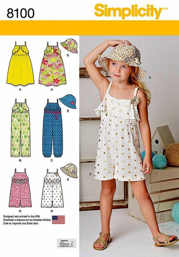 aec16e582 Girls  Jumpsuit Pattern Little Girls  Romper Pattern by blue510 ...