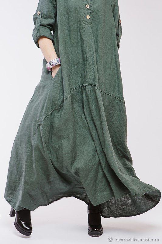00642fffbfc ручной работы. Ярмарка Мастеров - ручная работа. Купить Бохо платье льняное  4-13 доллар. Handmade. Бохо