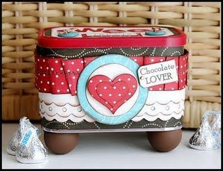 chocolate lover, altered tin