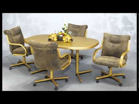 Chromcraft Furniture Swivel Tilt Caster Chair And Table Dining Sets