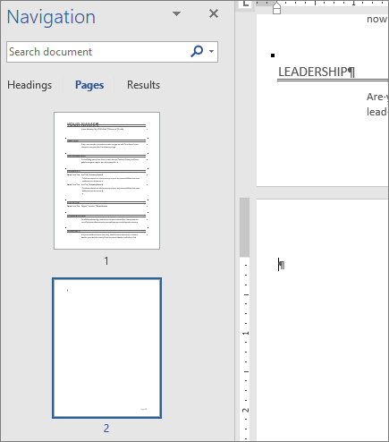Delete A Page In Word Resume Templates Words Page