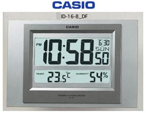 Casio Wall Clock Id 16s 8df Casio Bidorbuy Co Za Clock Desk Clock Hygrometer