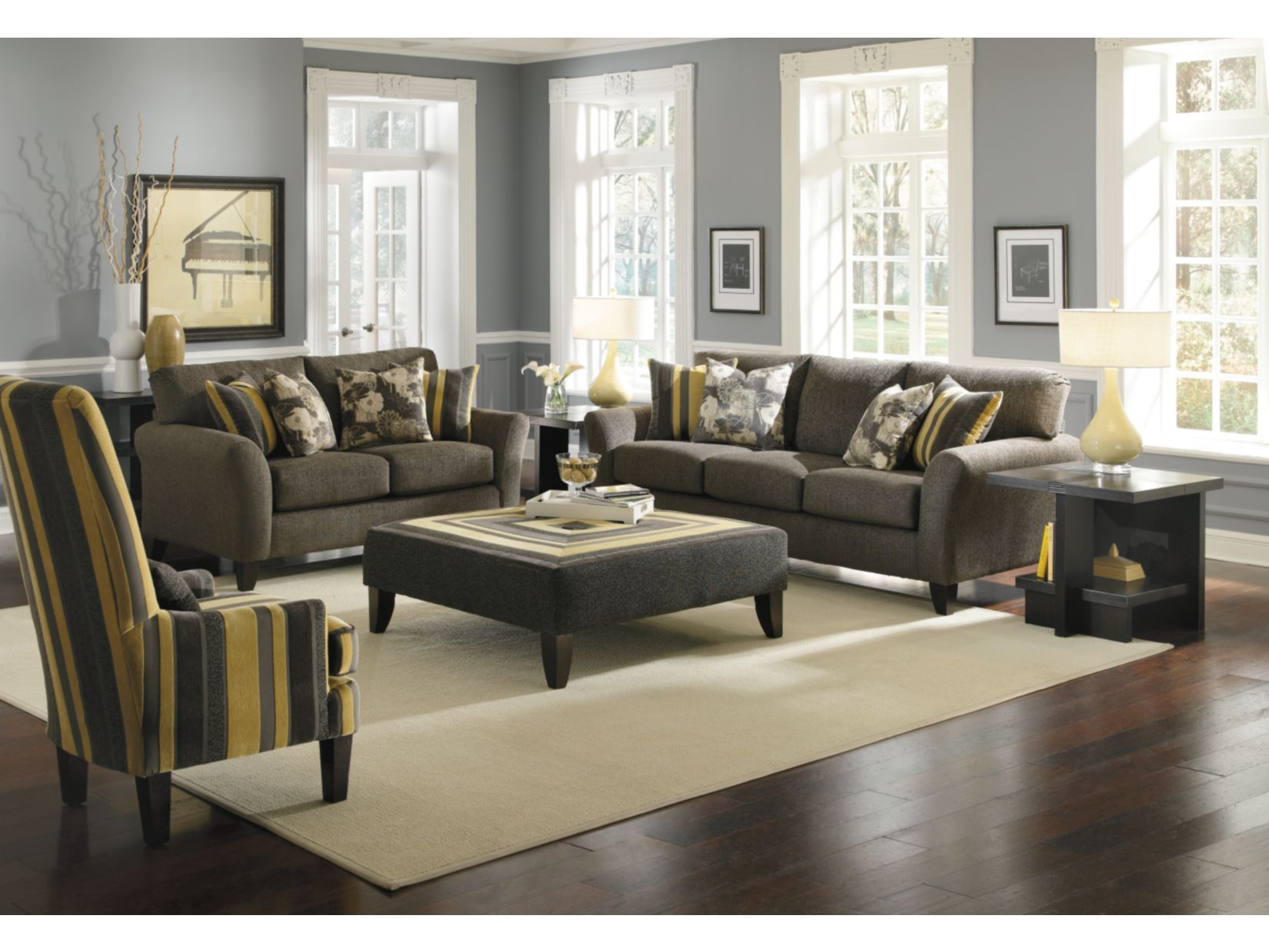 Cassidy Charcoal 2 PC Sofa & Loveseat Package American Signature