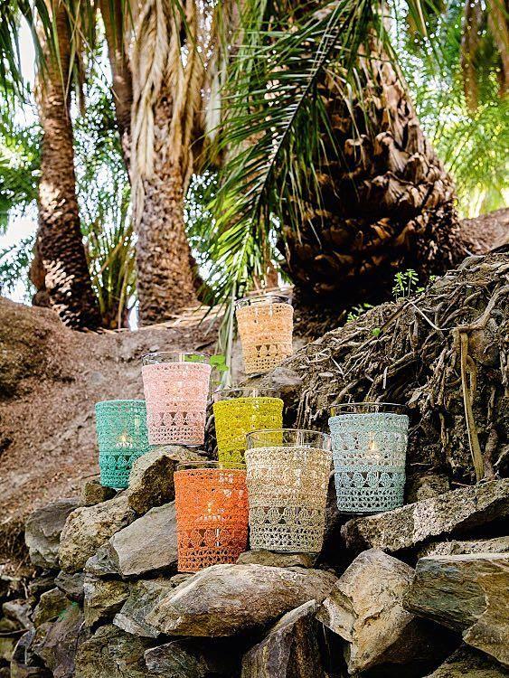 Diy Anleitung Vasenhüllen Im Muschelmuster Häkeln Via Dawandacom