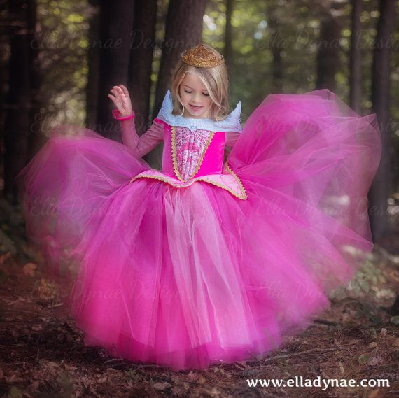 Sleeping Beauty Aurora Costume Pink Blue Dress by EllaDynae ...