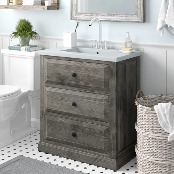 """Bellevue 30"""" Single Sink Bathroom Vanity Set Bathroom"""