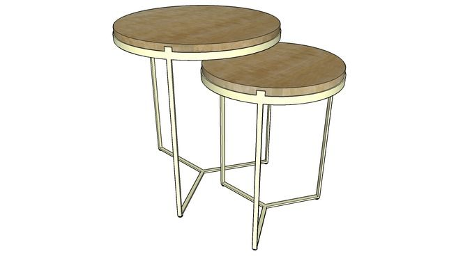 NESTING SIDE TABLE 3D Warehouse sketchup Pinterest