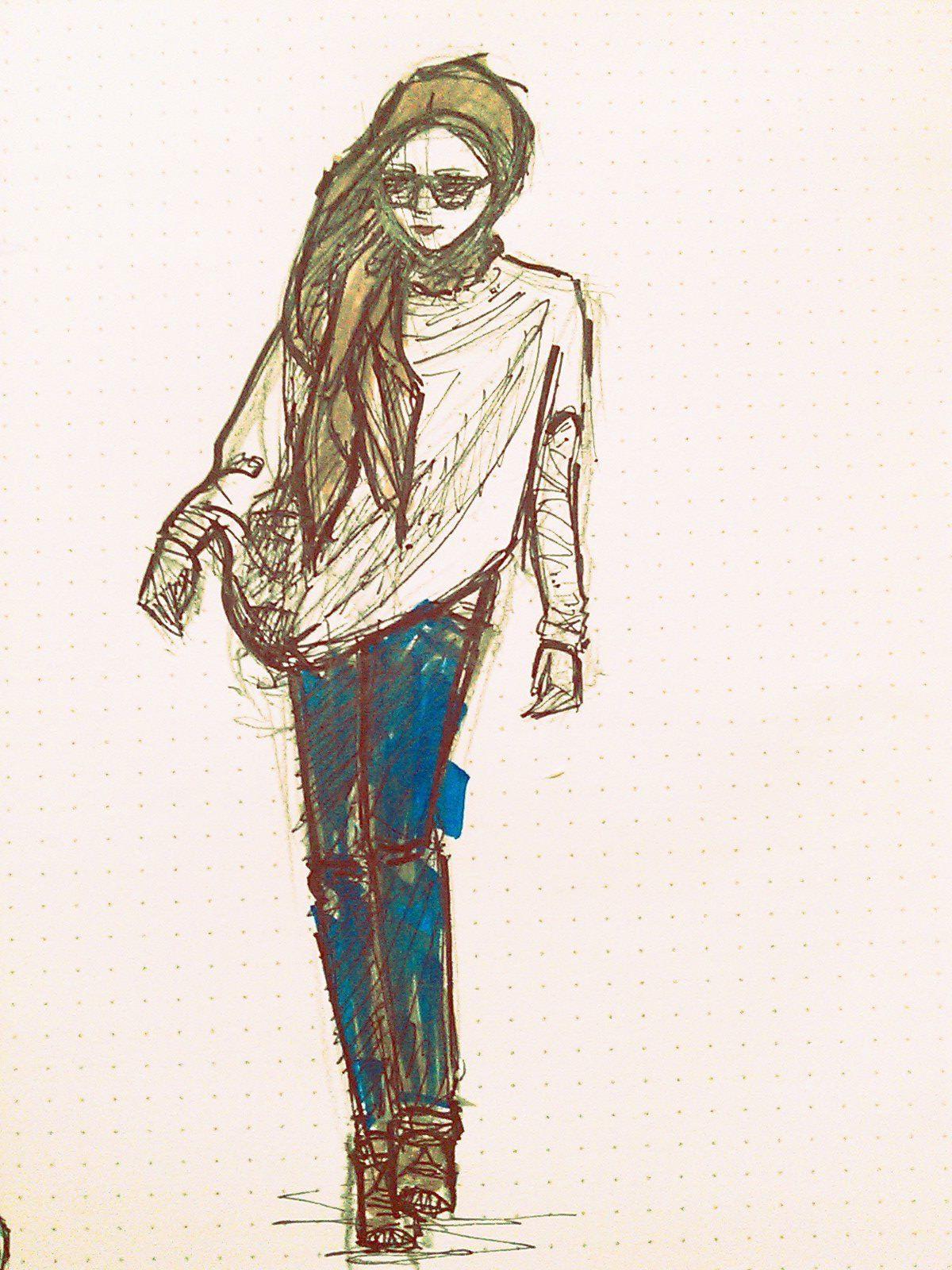 Image Detail For -Sketch By Azyan - Jenahara - Fashionable Hijabs   Hijab U0026 Fashion   Pinterest ...