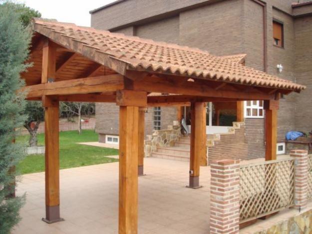 Cobertizos de madera construcci n y dise o jardin for Cobertizos para jardin