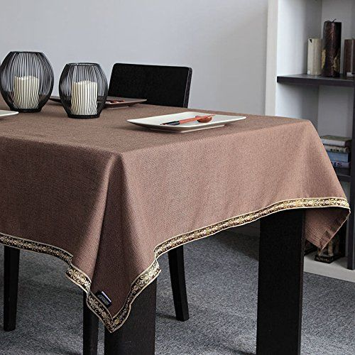 WFLJL Simple style decoration Tablecloth Cotton Coffee rectangle