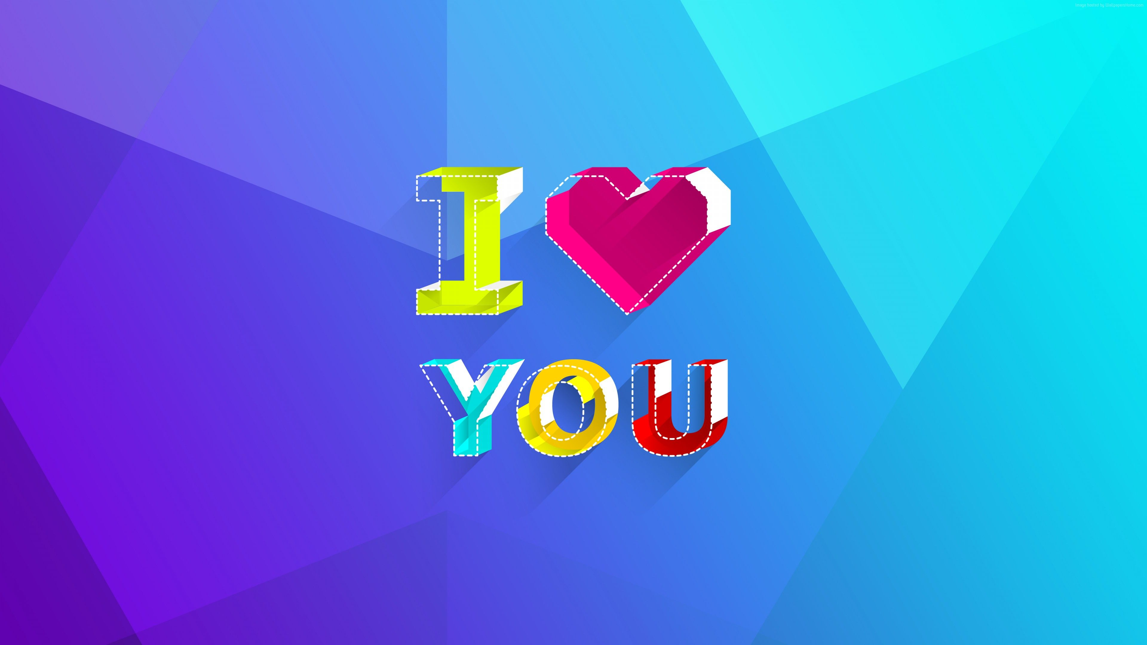 I Love You 4k Text Background 4k Wallpaper I Love You 4k Text