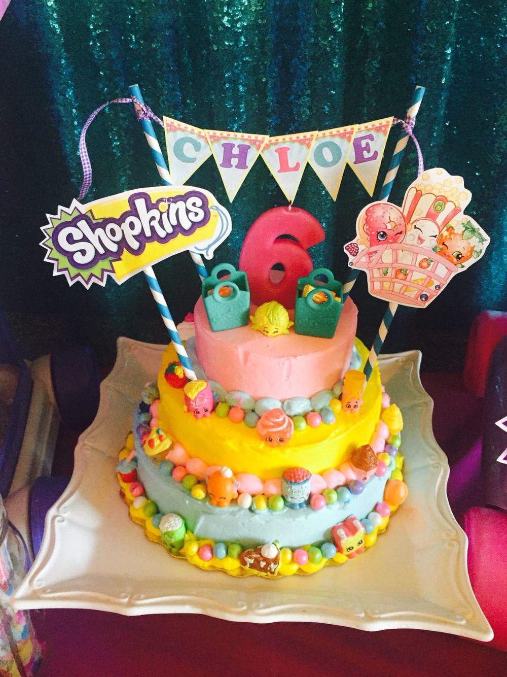Diy Shopkins Cake With Images Shopkins Birthday Cake