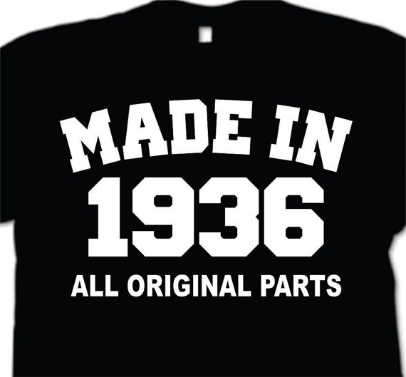 Made In 1936 All Original Parts Long Sleeve T-Shirt Funny 80th Birthday Gift