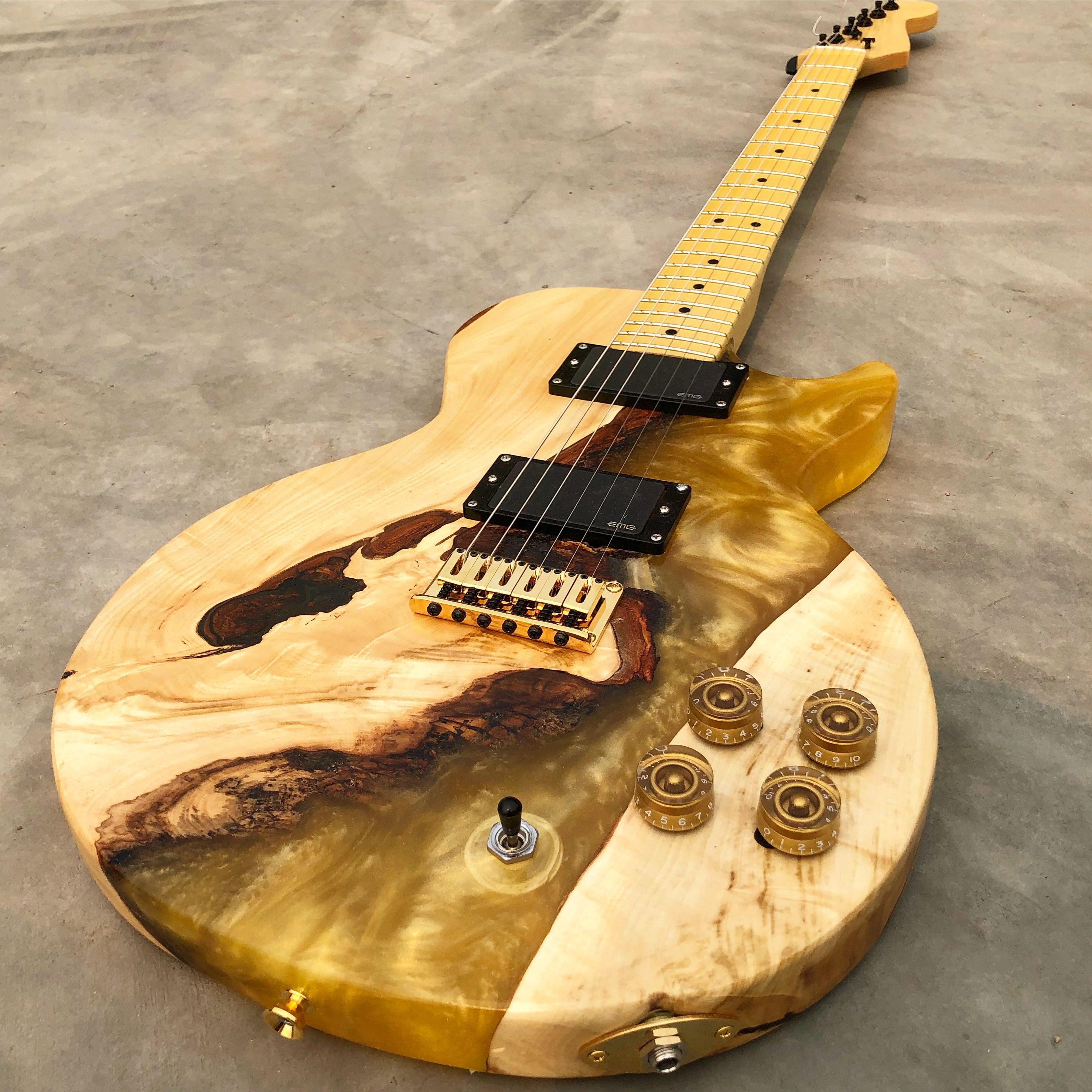 Honey Pot Les Paul Guitar Electric Guitar Guitar Guitar Diy