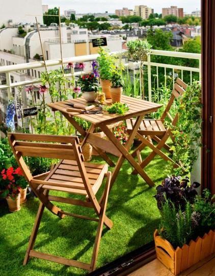 balkon sztuczna trawa - Cerca con Google Terraza Pinterest