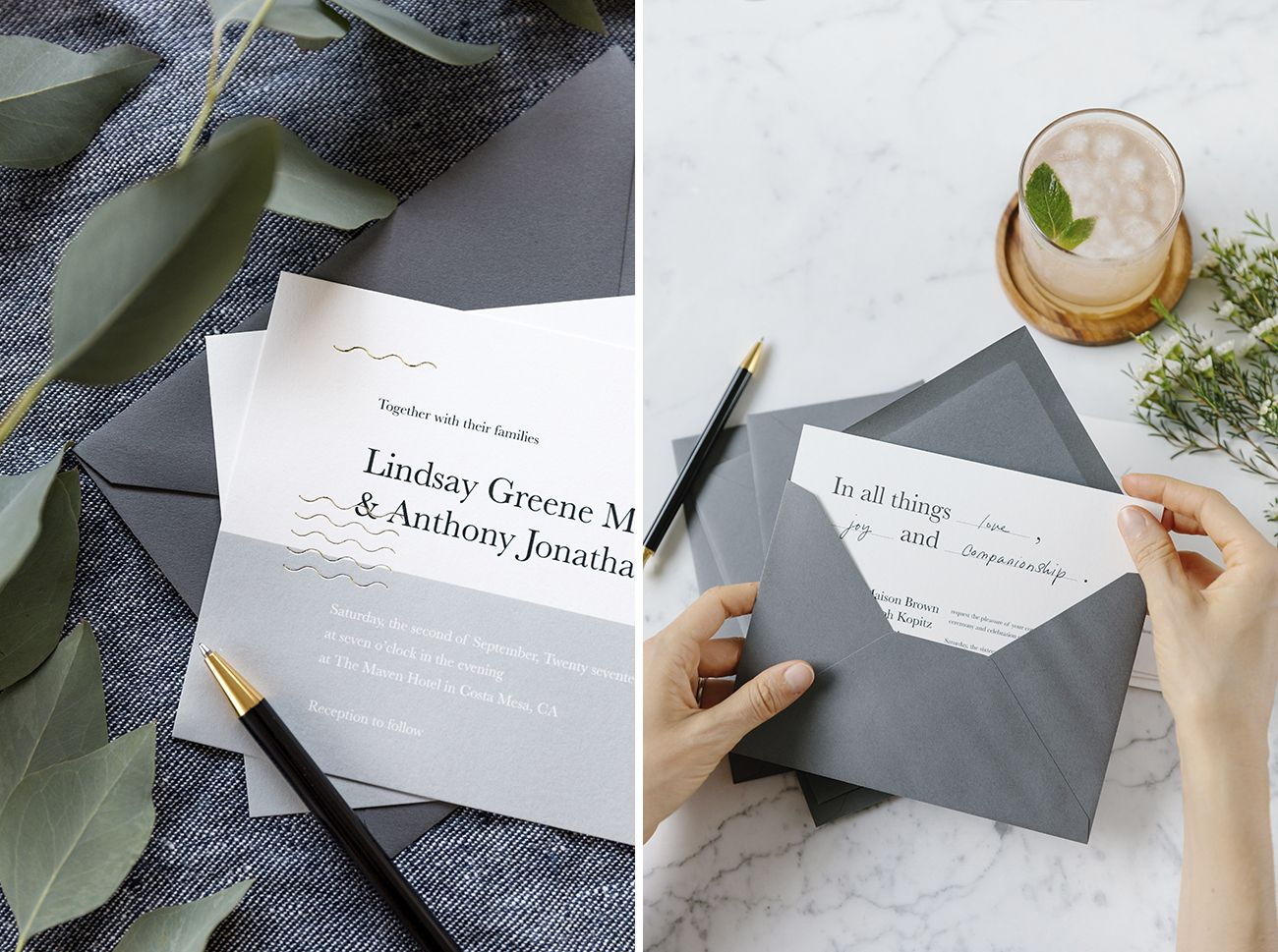 Modern Luxe Wedding Invitations From Artifact Uprising Luxe