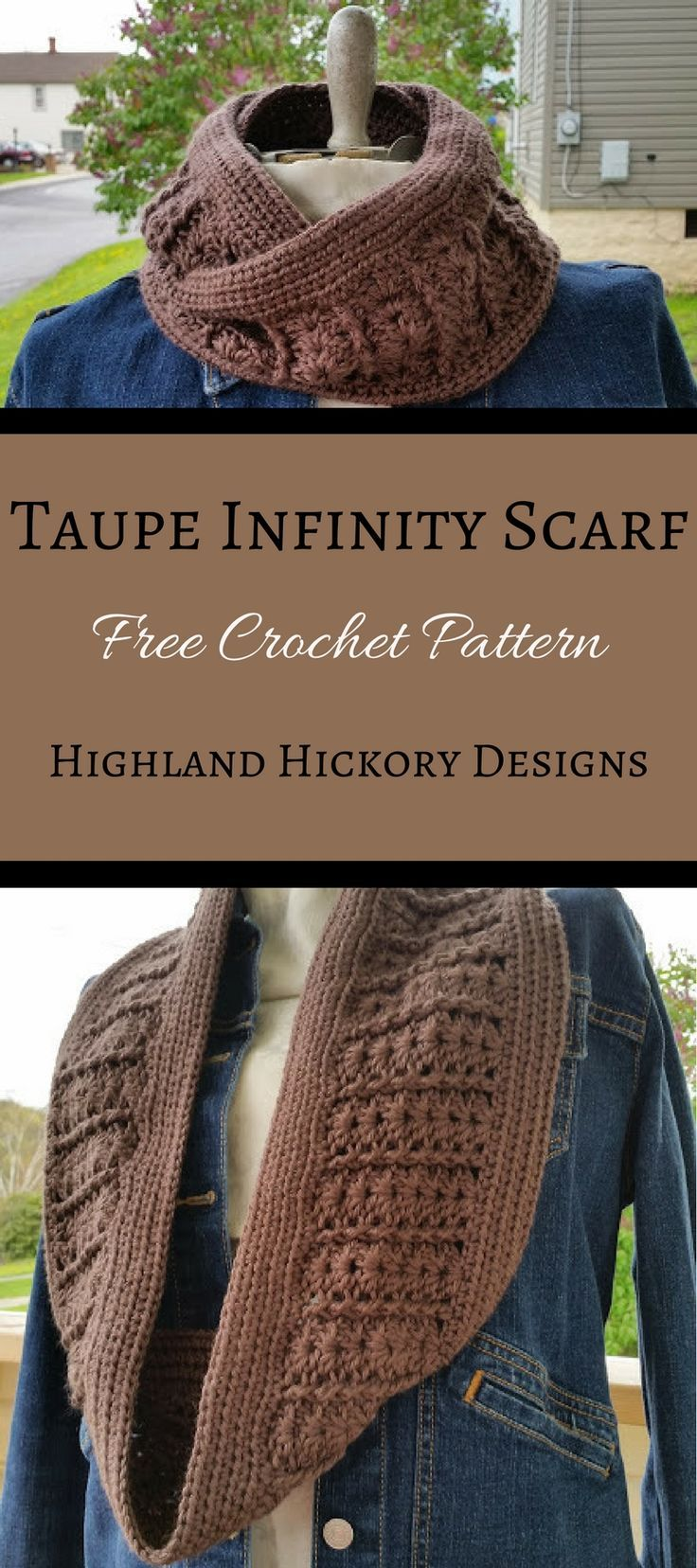 Taupe infinity scarf easy patterns slouch hats and taupe crochet the taupe infinity scarf for your winter wardrobe it looks complicated for being an bankloansurffo Choice Image