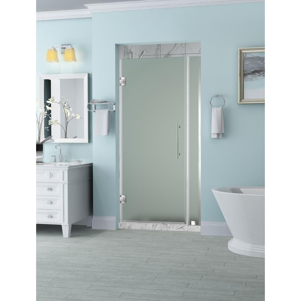 Aston Belmore 29.25 in. to 30.25 in. x 72 in. Frameless Hinged ...