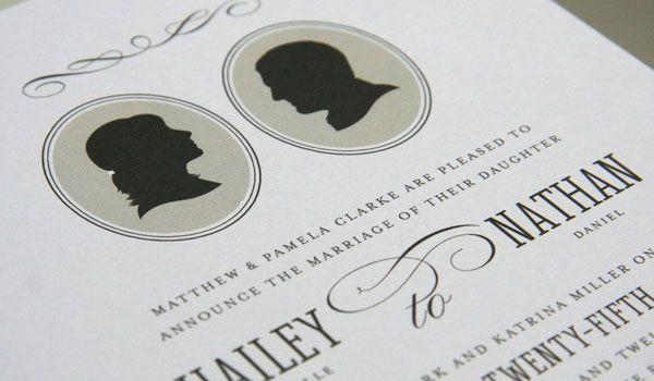 Font And Flourish Wedding Invitationsinvitesflourishstationniversary Silhouettesmasquerade