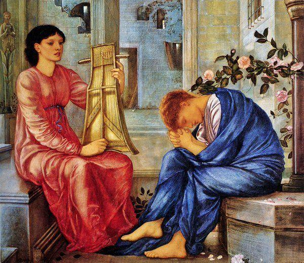 "Amy P on Twitter: ""The Lament by Edward Burne-Jones, 1865-1866 https://t.co/2hI8Ly8Rdu"""
