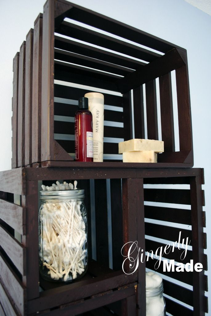 The Cheap and Choosy: Wood Crate Linen Cabinet | Home ...