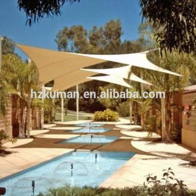Hdpe Fabric Swimming Pool Sun Shade Sail Outdoor Shade Pool Shade Sun Sail Shade