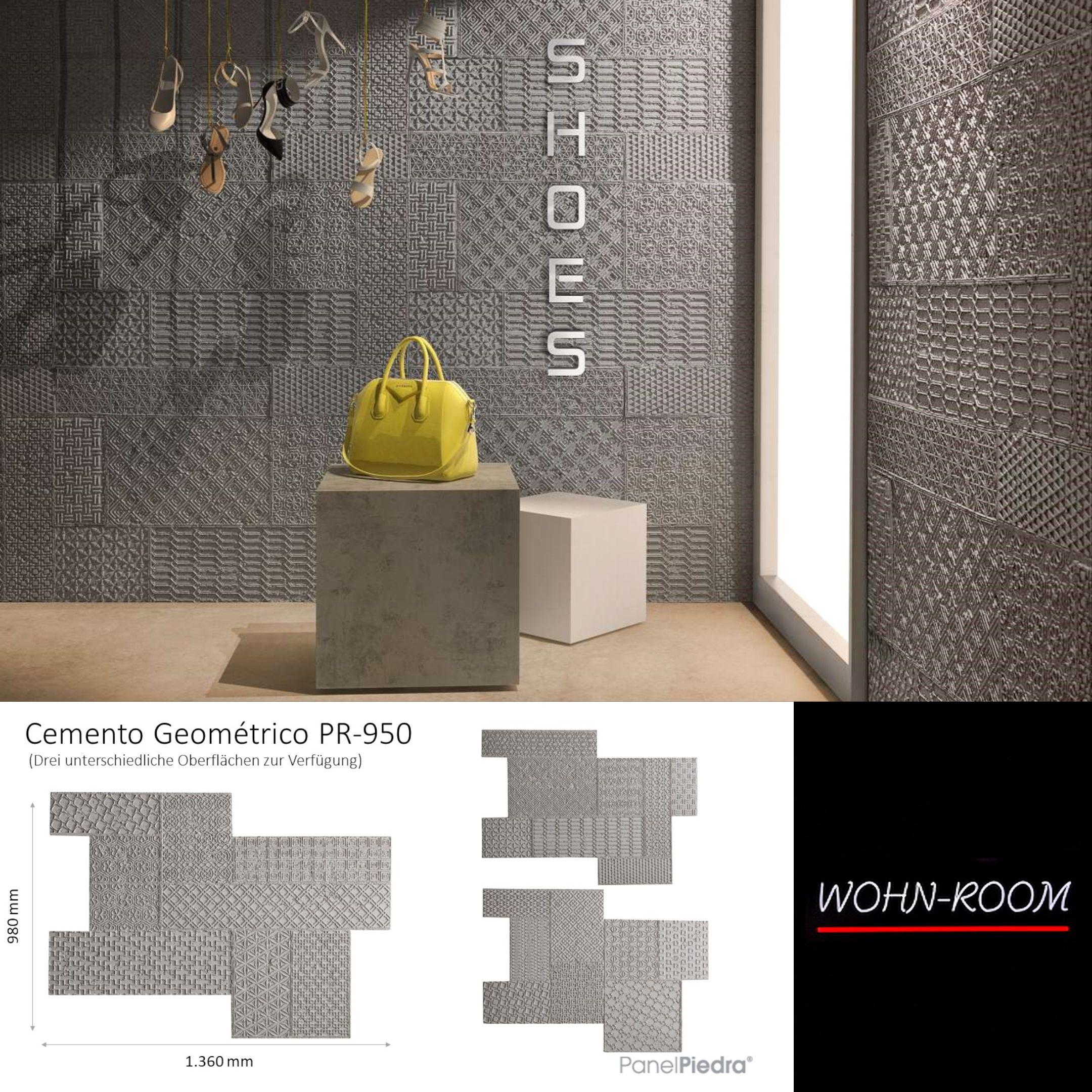 betonfake 'geometico' des spanischen herstellers panelpiedra. hier