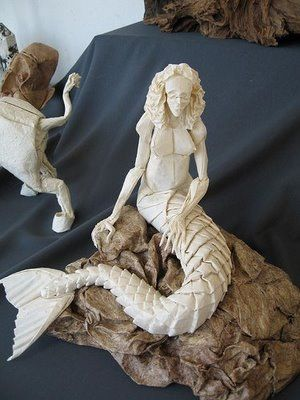 Eric Joisel Origami Mermaid Diagram 220v To 12v Transformer Wiring Cp Sirena Version 2 By Pinterest