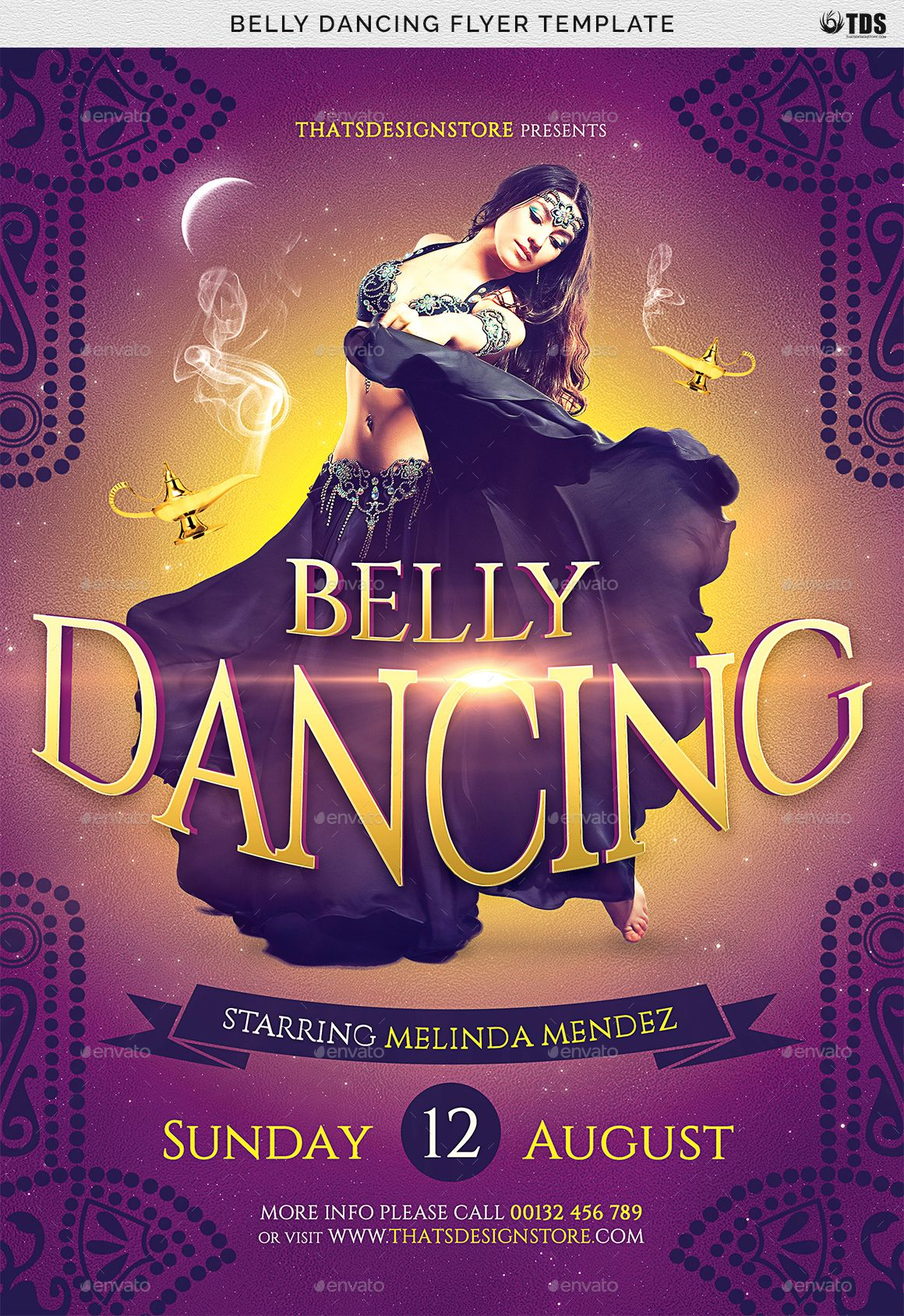 Belly Dancing Flyer Template Flyer Template Flyer Free Psd Flyer Templates