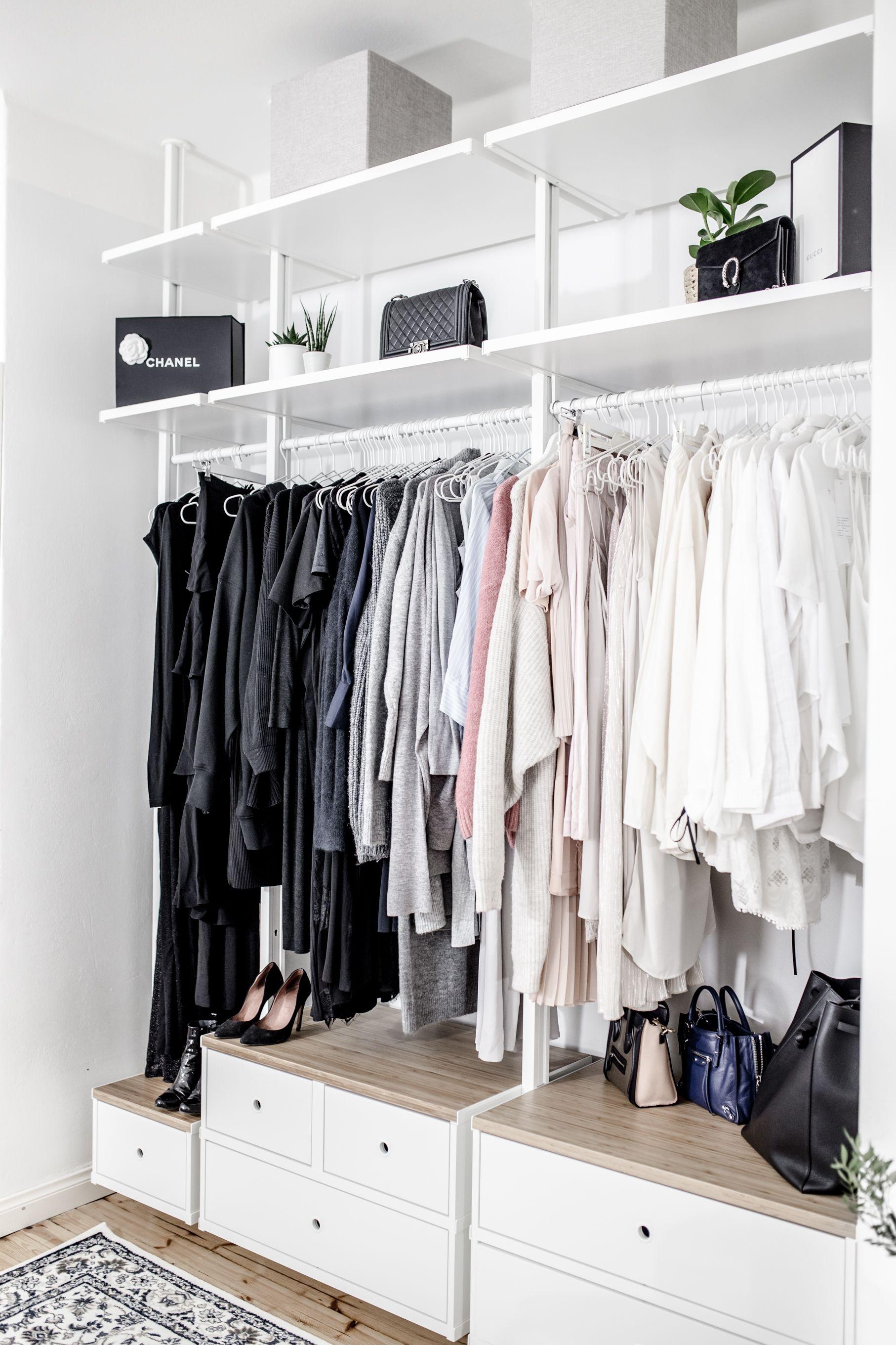 Makuuhuoneen Open Closet Vaatesailytysratkaisu Elvarli