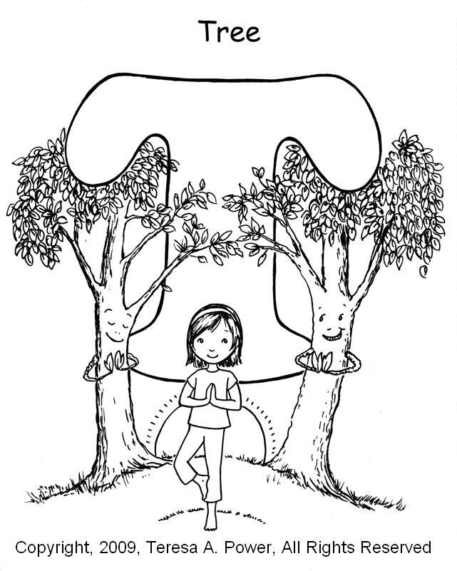 Yoga coloring pages ~ T is for Tree (Yoga style) | T is for Tricia & Tattoos ...