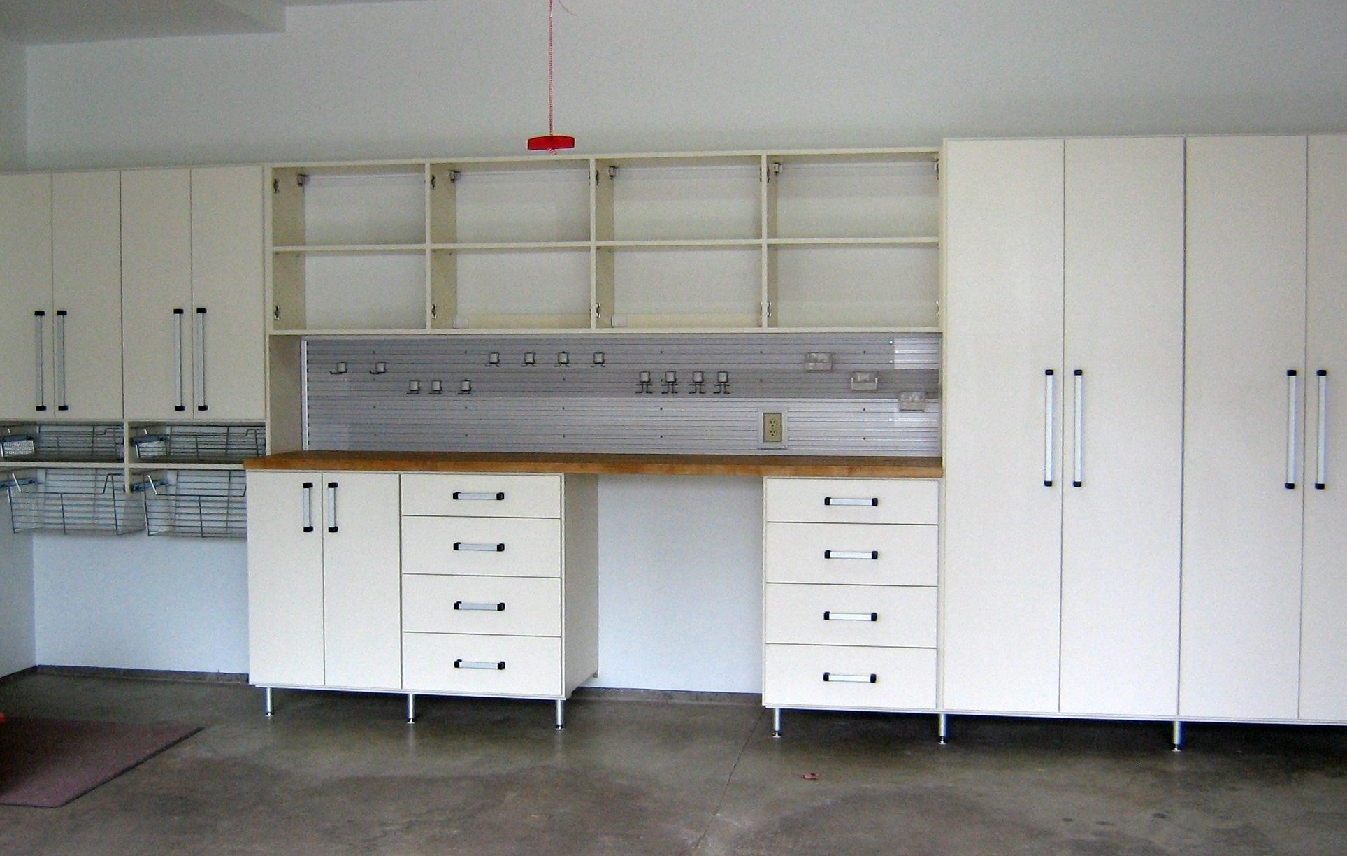 California Closets Twin Cities garage workbench garage cabinets