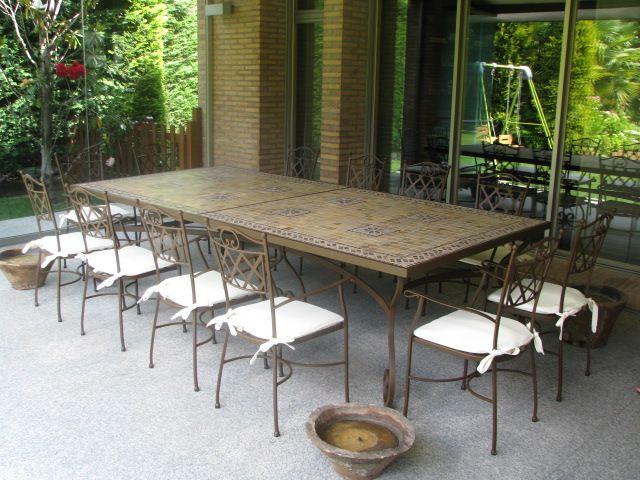 Exterior. mesa de mosaico 300x140cm. preciosa terraza. www ...