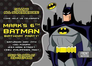 Batman Invitations Archives TemplateMansion Birthday Party