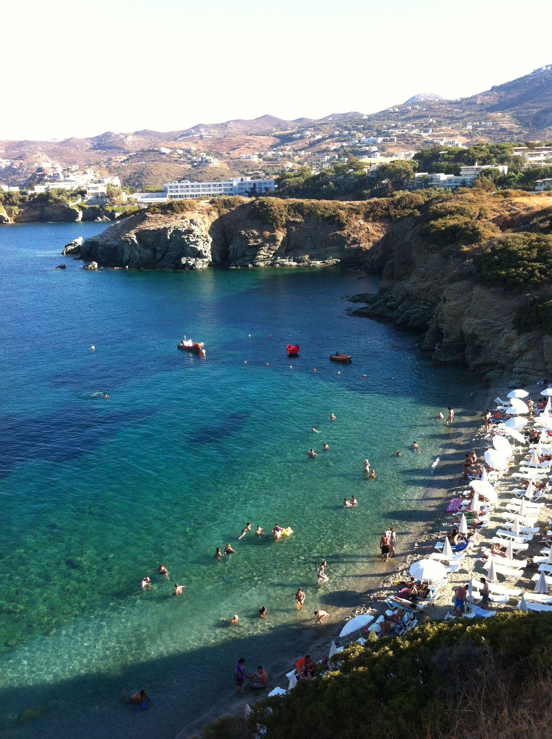 The main beach of Agia Pelagia My bucket list Pinterest