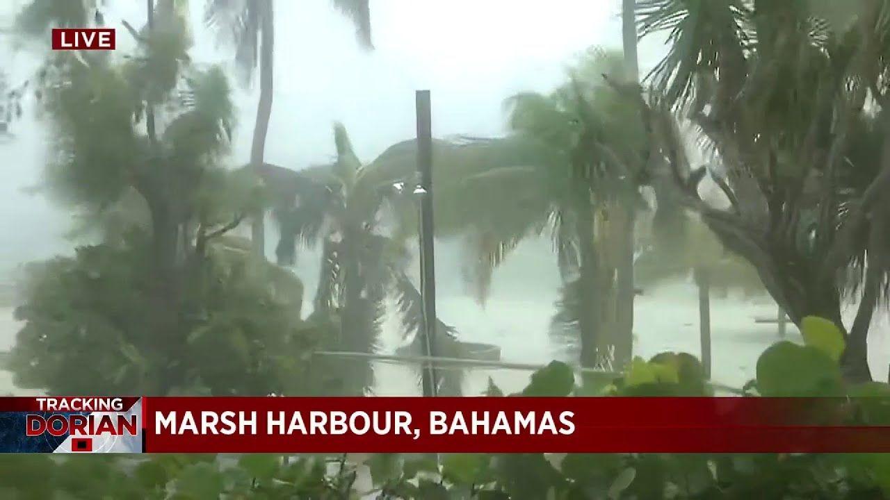 Powerful Hurricane Dorian Impacting Bahamas With Intense Wind And Rain Youtube Bahamas Wind And Rain Bahamas Hurricane