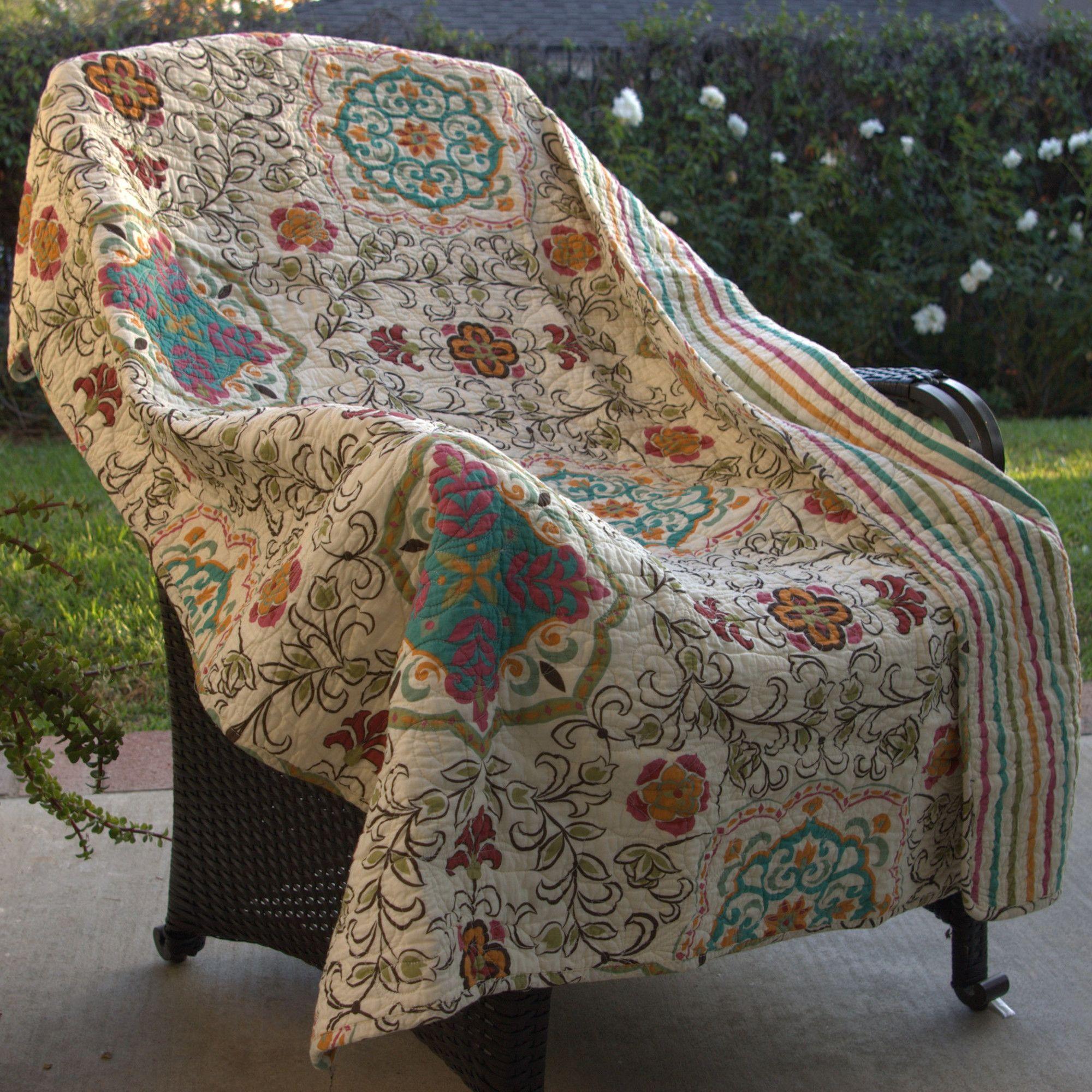 Greenland Home Fashions Esprit Spice Cotton Throw & Reviews | Wayfair