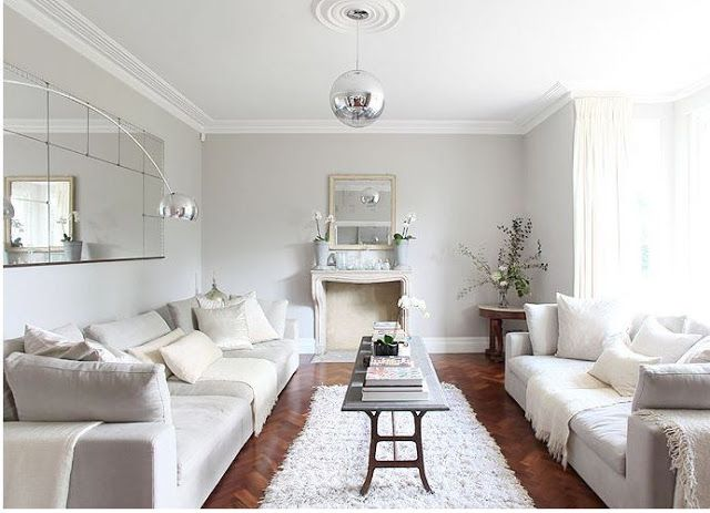 Walnut Floors, Grey Walls, Love The Two Couches On Each Side | Cornforth White Living Room, Living Room Grey, Living Room Paint