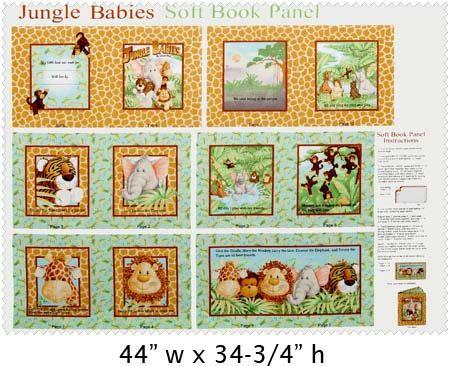 Rag quilt Soft fabric book A B C  ABC/'s animals