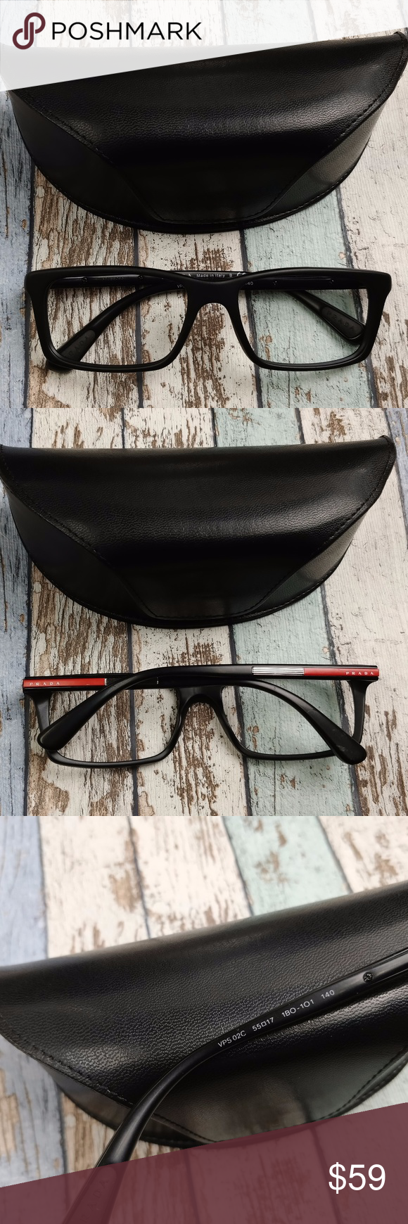 951d69f3c7c6 Prada VPS02C Men's Sunglasses /EUG612 Made in: Italy Comes without lenses  Frame Condition: